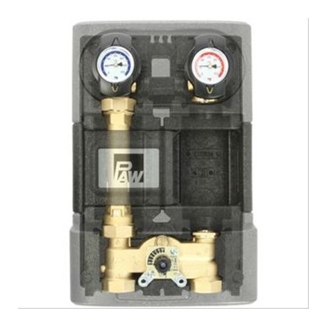 Circuit de chauffage K34 mélangeur 3 voies + bypass sans pompe
