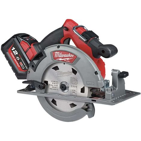 Circular saw 66mm MILWAUKEE M18 FUEL FCS66-121C - 1 battery 12 Ah - 1 charger - 4933464586