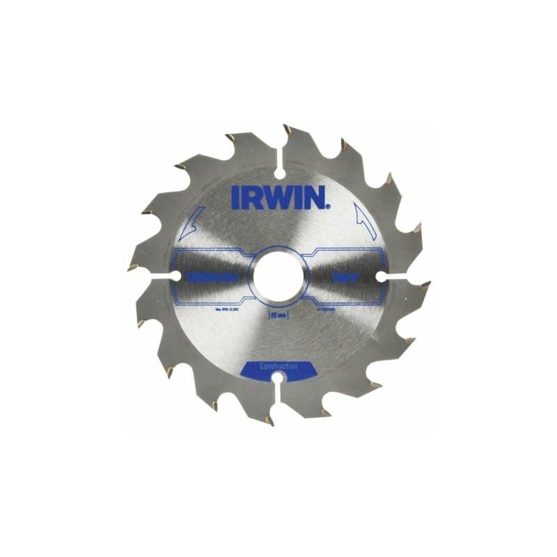 Image of Construction Circular Saw Blade 125 x 20mm x 16T ATB ( 1897086) - IRW