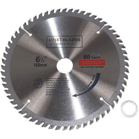 Circular Saw Blade 160mm x 20mm TCT 60 Tungsten Carbide Teeth