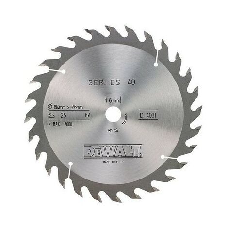 Circular Saw Blade 184 x 16mm x 28T Series 40 General Purpose