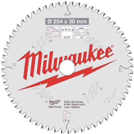 Circular saw blade MILWAUKEE for mitre saws 60 teeth 3x254mm 4932471320