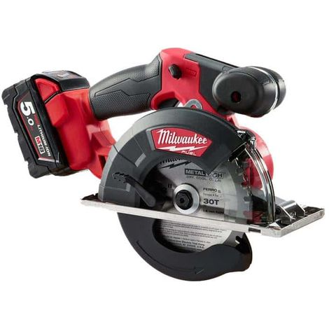 Circular saw MILWAUKEE FUEL M18 FMCS-502X - 2 batteries 18V 5.0 Ah - 1 charger M12-18FC 4933459193