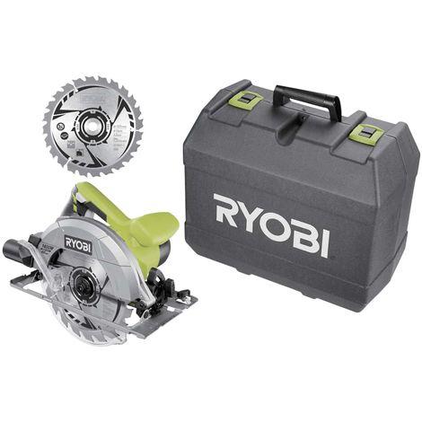 Circular saw RYOBI 1400W 66mm - 2 blades 20 teeth - 1 box RCS1400-K2B