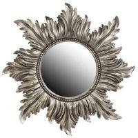Circular Silver Corona Mirror