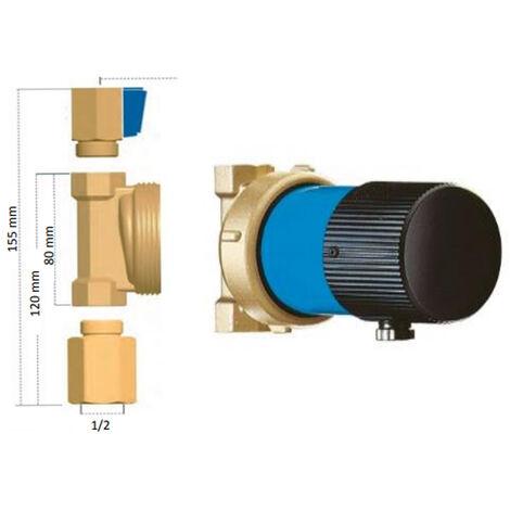 """Circulateur bouclage sanitaire VORTEX (sans horloge ni thermostat) avec vanne et clapet - Mâle 1/2"""" (15/21) - Thermador"""