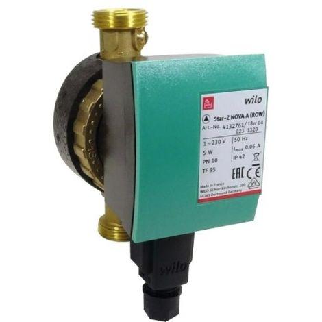Circulateur de bouclage eau chaude sanitaire Wilo-Star-Z NOVA A M 15x21 / entraxe 138 mm
