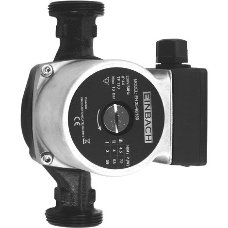 Circulateur Einbach 25-40 180 230V pompe de chauffage