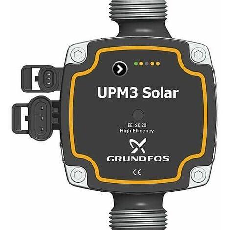 Circulateur Grundfos UPM3 15-75, longueur 130mm solaire DN25 (1)male, 9 heures, PWM