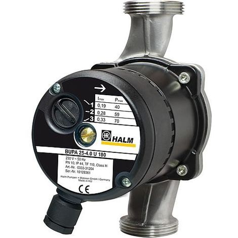 Circulateur Halm BUPA(N) 25-2.5 N 180 Longueur 180 mm 230 V