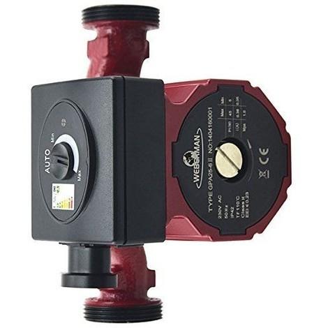 Circulateur pour chauffage central Weberman GPA II 25-40 180 mm 230 V Classe A 0601W