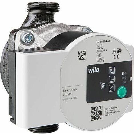 Circulateur Wilo Para 15/6 SC pour circuit de chauffage Easyflow DN20(3/4), longueur 130mm