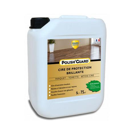Cire de protection pour parquet - Protéger, entretenir et faire briller les sols - Polish'Guard® 5L