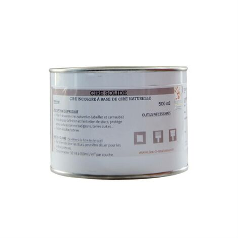 Cire Solide Blanche - Les 3 Matons - 500 ml