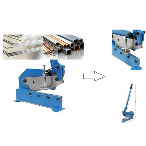 Cisaille à levier 300 mm - Pour tôle d'acier et fer rond /plat