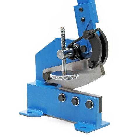 Cisaille à levier de 125 mm Découpe de tôle Métal Acier rond plat Machine manuelle Atelier