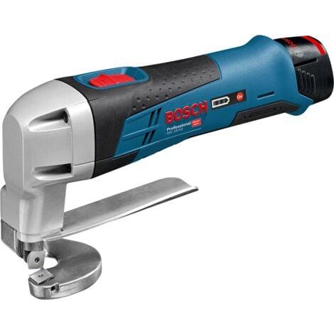Cisaille à tôle GSC 12V-13 - 2 batteries 12V 2.0Ah + chargeur + coffret - BOSCH - 0601926108
