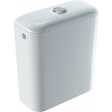 Cisterna de cerámica Geberit Icon, 6 l, entrada lateral, doble descarga 3l/6l, 229420, color: Blanco, con KeraTect - 229420600