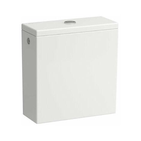 Cisterna Laufen Kartell para combinación de WC de pie 824331, doble descarga, conexión de agua en la parte trasera, color: Nieve (blanco mate) - H8293317578711