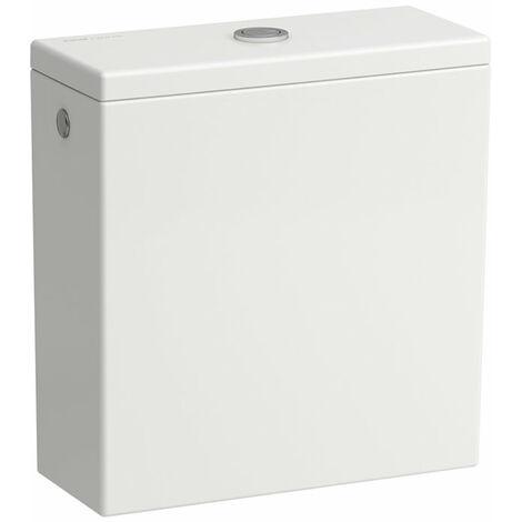 Cisterna Laufen Kartell para la combinación de WC autónomo 824331, doble descarga, conexión lateral de agua, color: Nieve (blanco mate) - H8293327578721