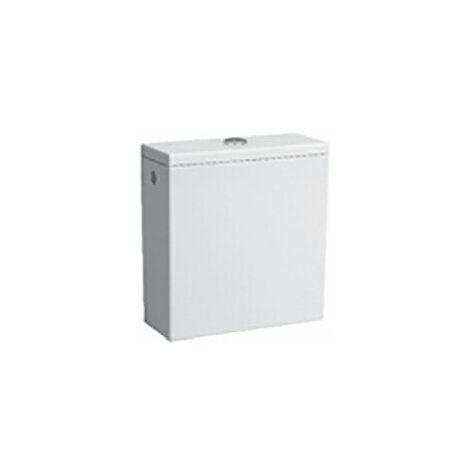 Cisterna PRO, 2 descargas, 6 L, conexión de agua en la parte posterior, blanca., color: Blanco con LCC - H8299514008711