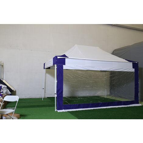 Cite bache grande fenetre panoramique 4m - PVC 520g/m - BLANC