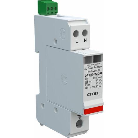 "main image of ""CITEL DS240S-230/G AC Surge Protector Type 2 230V 1 Phase 2 Pole CT2 Imax 40KA"""