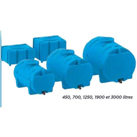 Citerne autoportante horizontale avec vanne - 700 litres