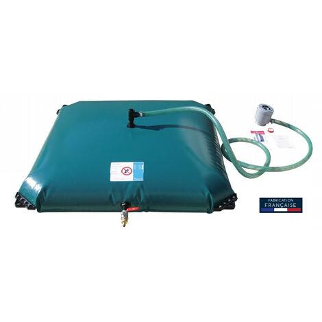 Citerne souple de récupération et stockage d'eau 500 L + Kit de connexion AQUALUX - 105804