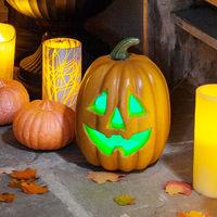 De Couleur Halloween Changeante À Citrouille Pour Piles Lumineuse Led USVqpzM