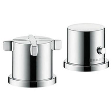 Citterio E Set de finition pour thermostatique 2 trous pour montage sur bord de baignoire, chromé