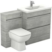 City Molina Ash 1300mm 2 Drawer Vanity Unit Toilet Suite