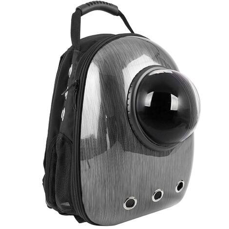 CityBAG - Sac à dos de transport des animaux de compagnie en plastique rigide gris