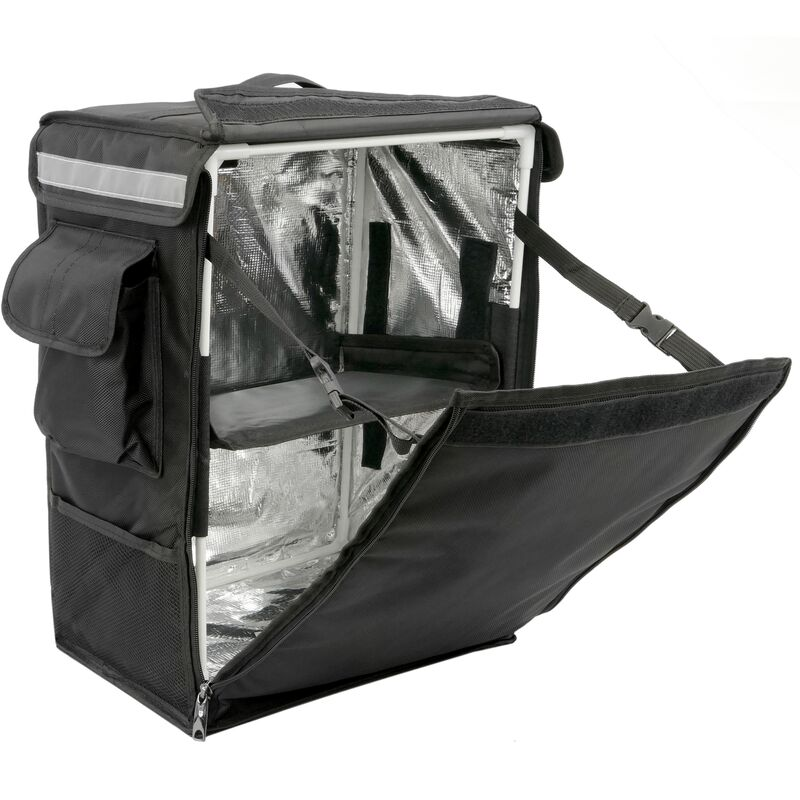 Image of Isothermal backpack 35 x 49 x 25 cm black for cookouts and food order delivery - Citybag