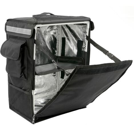 CityBAG - Thermal backpack for takeaway food orders by bike and motorbike delivery black 35 x 25 x 49 cm.