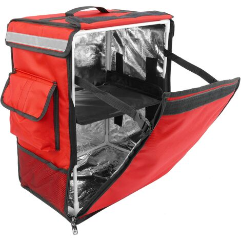 CityBAG - Thermal backpack for takeaway food orders by bike and motorbike delivery red 35 x 25 x 49 cm.