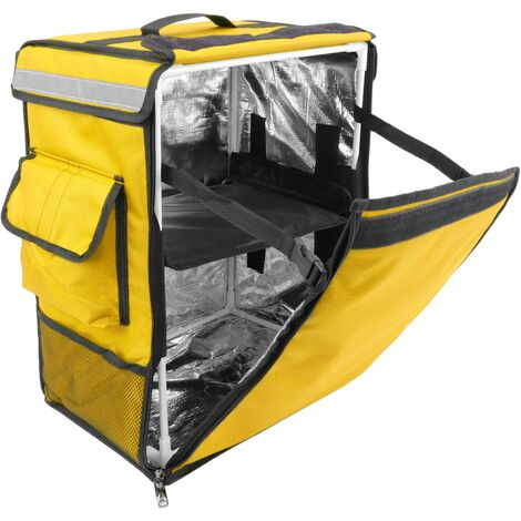 CityBAG - Thermal backpack for takeaway food orders by bike and motorbike delivery yellow 35 x 25 x 49 cm.