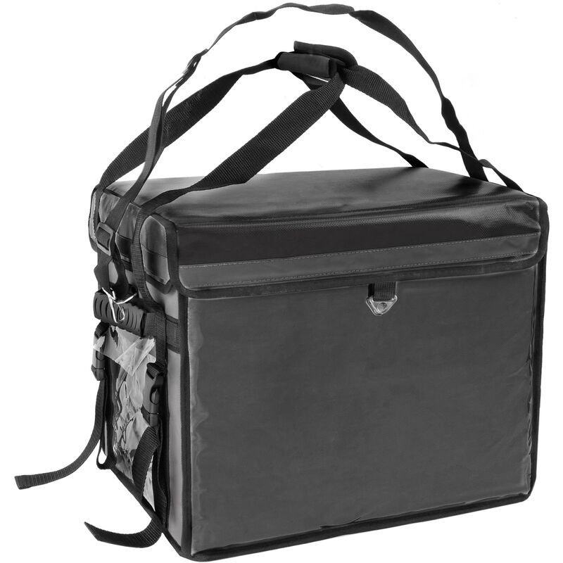Image of Isothermal backpack 45 x 35 x 33 cm black for cookouts and food order delivery - Citybag