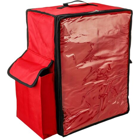 CityBAG - Thermal backpack in red 50x23x49 cm for takeaway food orders by bike and motorbike delivery