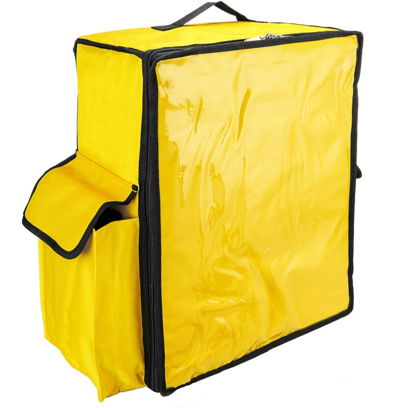 Image of Isothermal backpack 39 x 50 x 25 cm yellow for cookouts and food order delivery - Citybag