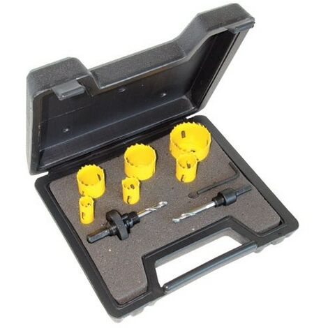 CK 424045 HSS Bi Metal Variable Pitch Hole Saw Kit For Electricians 9 Piece