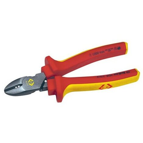 CK 431019 RedLine VDE Cutters Side Cutting Pliers With Wire Stripper 160mm