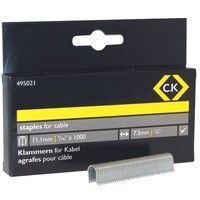 CK 495021 Cable staples 7.5mm wide x 11.1mm deep Box Of 1000