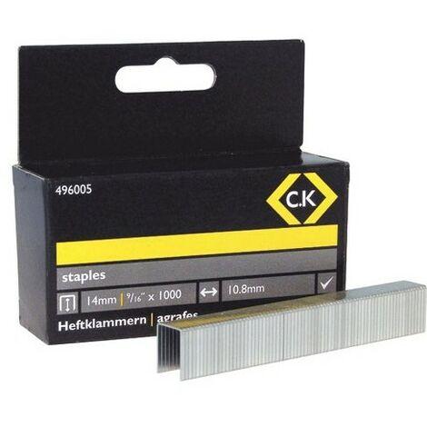 CK 496005 Staples 10.5mm wide x 14mm deep Box Of 1000