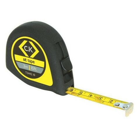 CK T3442 10 Softech Tape Measure 3m / 10ft
