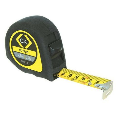 CK T3442 25 Softech Tape Measure 7.5m / 25ft