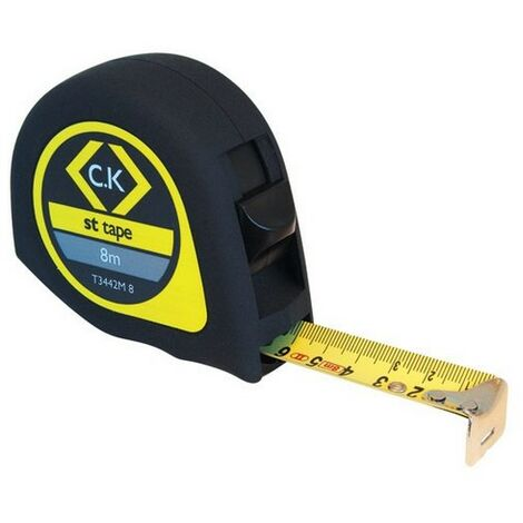 CK T3442M 8 Softech Tape Measure 8M Metric Only