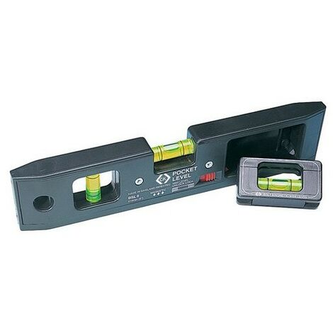 CK T3482 Pocket Spirit Level Magnetic 210mm With Detachable Mini Line Level