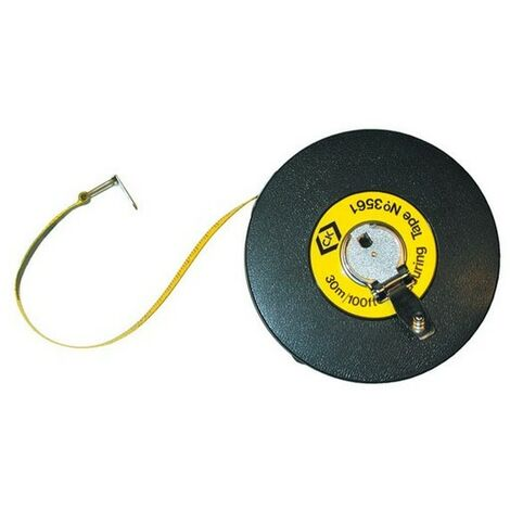 CK T3561 100 Fibreglass Tape Measure Long 30m / 100ft