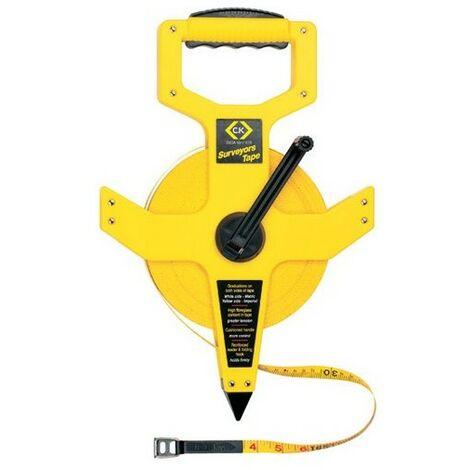 CK T3565 100 Surveyors Tape Measure Long 30m / 100ft